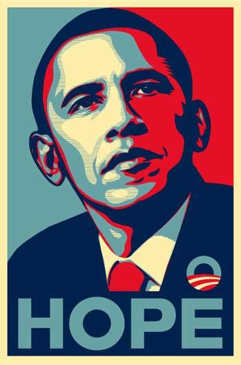 Barack Obama Shepard Fairey Hope Poster