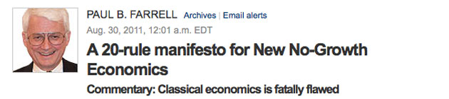 Paul B Farrell: Manifesto for No-Growth Economics
