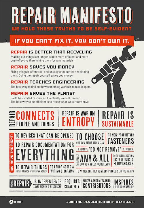 I Fix It Repair Manifesto