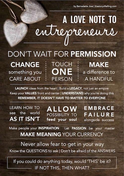 Bernadette Jiwa - A Love Note to Entrepreneurs